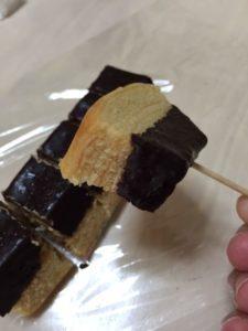チョコがけバナナバウム 食べた 感想1